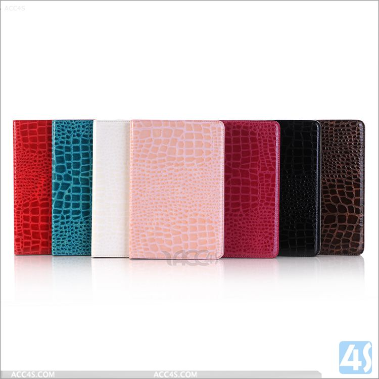 2016 New coming hot selling crocodile PU Leather wallet covers for ipad pro 9.7 air 3