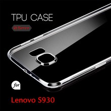 0.5mm Ultra Thin TPU Transparent Clear Protective Case for Lenovo S930