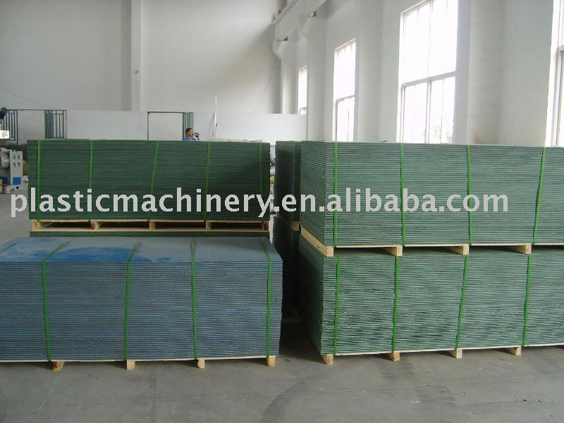 PE PP plastic formwork board production line
