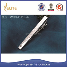 silver plated blank tie clip with logo,fashion bar tie for men