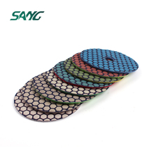 Diamond dry and wet hand floor abrasive tool flexible polishing pads