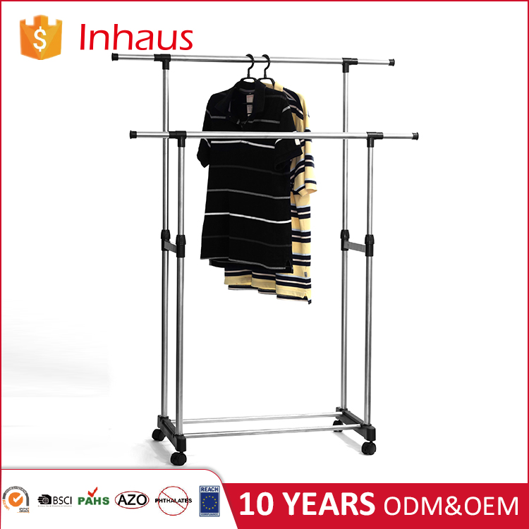 Heavy duty stainless steel automatic remote lowes wall clothes drying rack