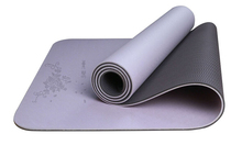high quality ati-slip eco-friendly tpe yoga mat with fabric