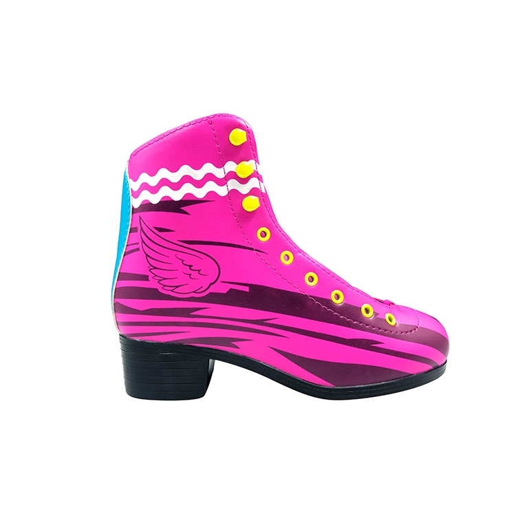 2018 fashion pink PVC wheel patines soy luna skate shoes