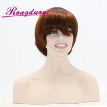 Unprocessed Brazilian Short Bob Silky Straight Swiss Lace For Wig Making