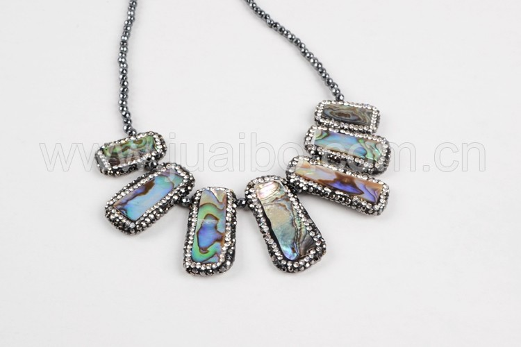 latest design beads necklace abalone shell bead statement necklace jewelry