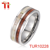 custom gay men ring jewelry wholesale china fathers day gift black silver tungsten rings antler wooden inlay bands jewellery