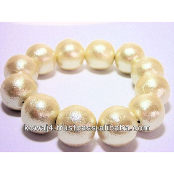 Cotton Pearl costume jewelry Beads ivory color