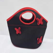 Portable lightweight neoprene lunch cooler tote bag