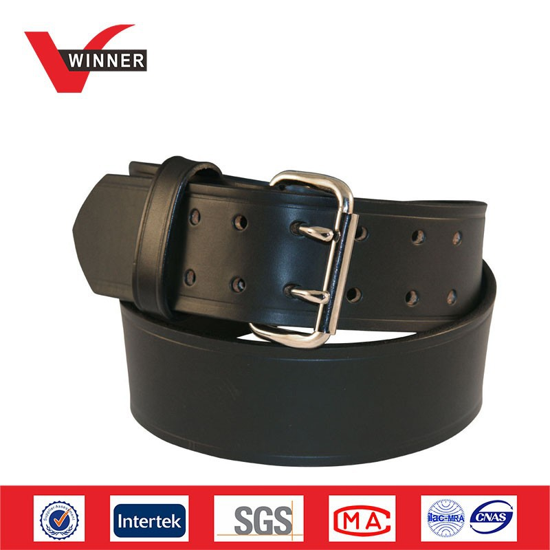 Factory price black military leather belts