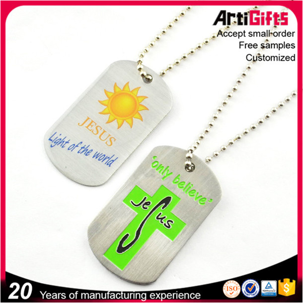 art and craft metal cheap heart shape dog tag