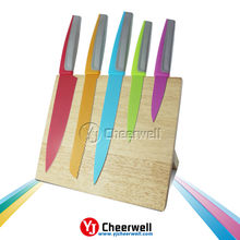 High Quality 5 Pcs Colorful Knife kitchen Settings
