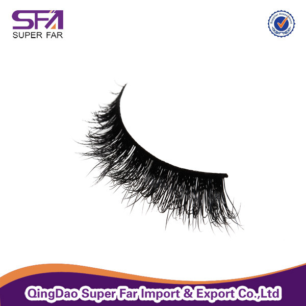 New style siberian real mink fur 3D false eyelashes with private label