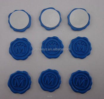 hot selling best quality Flexible light blue wax seal Stickers/Custom Logo Self adhesive wax seal sticker for envelope seal