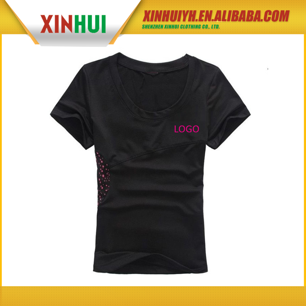 china wholesale market agents plain black t shirts , blank t shirt , t shirt printing