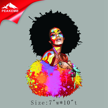 Discount price wholesale Afro girl heat transfer designs