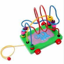 children toys new 2016 style Wooden beads around drag walker toys for Children
