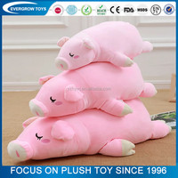 2017 soft pillow toy pink cute pig stuffed animal