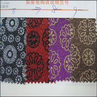 Glitter full pu leather and 100 pu synthetic leather Material