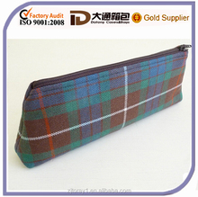 Plaid Zippered Pencil Pouch Make Up Bag for Adult