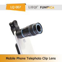 Optical Glass 8X Zoom Telephoto Lens with Universal Clip ABS for Smartphone LIEQI brand LQ-007 laptop