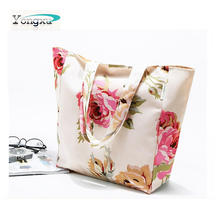 hot stamping surface nylon shopping tote gifts bags, reusable nylon beach bags,popular nylon tote gifts bags