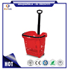 Single Handle Foldable Supermarket Discount Plastic Basket
