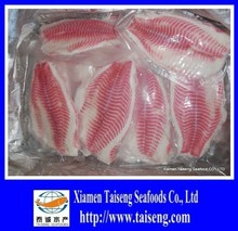 Individual Vaccum packing tilapia fillet with well trim