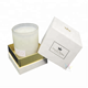 China Manufacturer Custom Printed Luxury Premium White Square Rigid Cardboard Paper Package Candle Gift Box Packaging With Lid