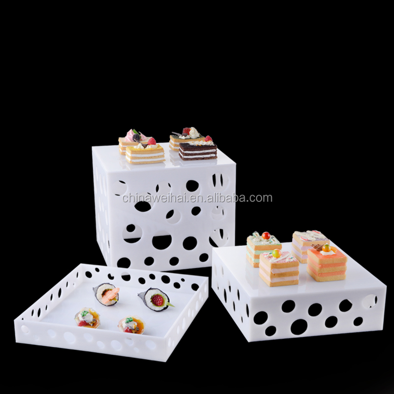 Color  Acrylic Catering Display Stands