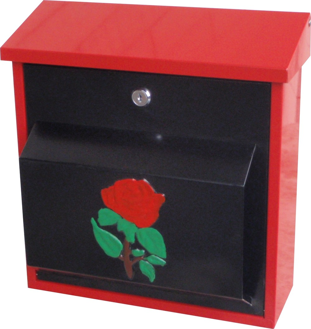 cast iron wall mount mailboxes/2060D/wall mount red mailbox