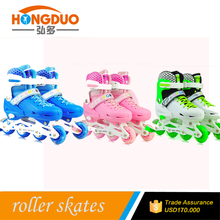 2016 professional new design kids inline speed skates with flash light on pu wheels
