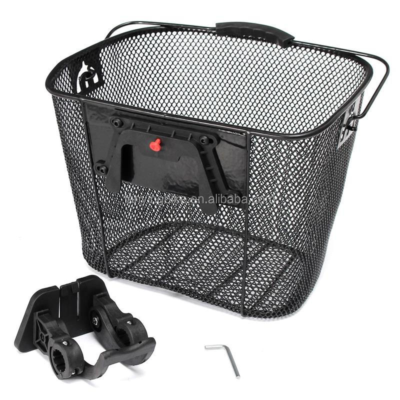 city bicycle basket steel wire front basket for sale