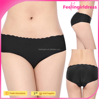 Breathable Sexy Lacework Tight Hot Sale Slimming Fashion Black Ladies Panty