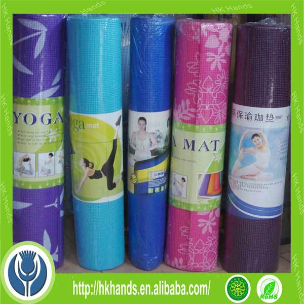Portable Yoga Mat, Pilates Exercise Fitness Sponge Foam Yoga Mat with Carrier Bag