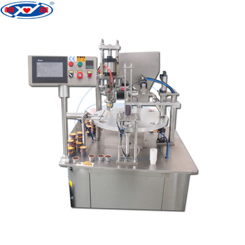 automatic rotary coffee capsule filling sealing machine, nespresso coffee capsule filling machine