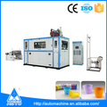 China latest full automatic disposable plastic tea eps cup making machine