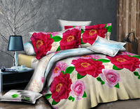 3D polyester peach skin printed fabric for bedding