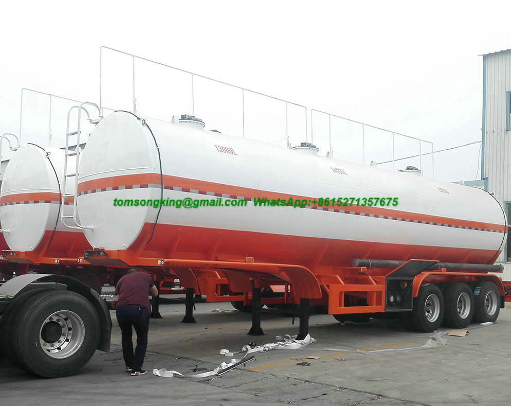 2 Axles Stainless Steel Fuel Oil Tank Trailer
