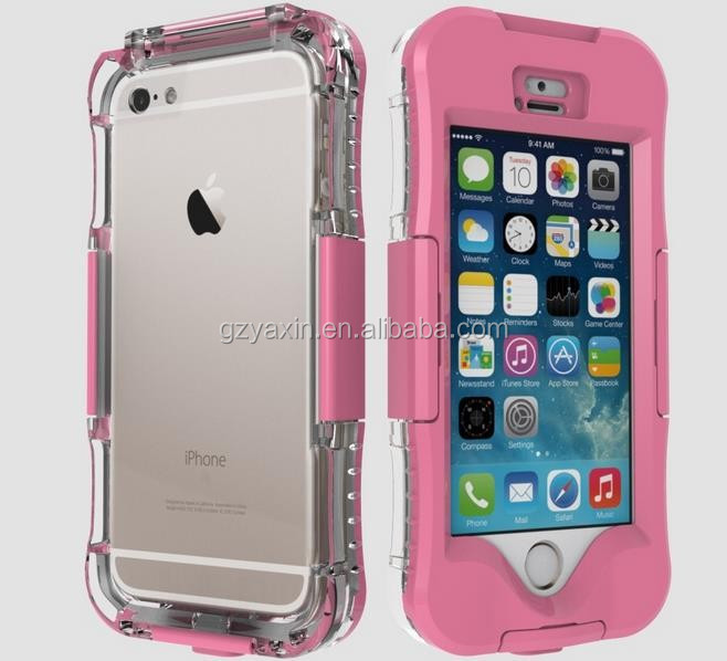 Plastic Hard Cell phone Shockproof Smartphone Waterproof Phone Case for iphone 5 6 6S