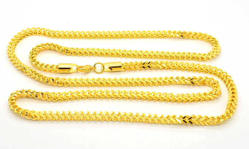 gold plated stainless steel latest gold chain designs 2012