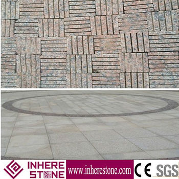 Garden decoration Maple Red cubic stone & Kerb stone