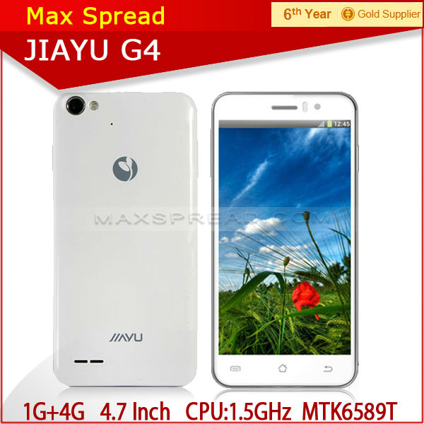 MT6589T JIAYU G4 Mobile Phone with Quad Core 4.7 inch HD Screen 13MP Camera china wholesale