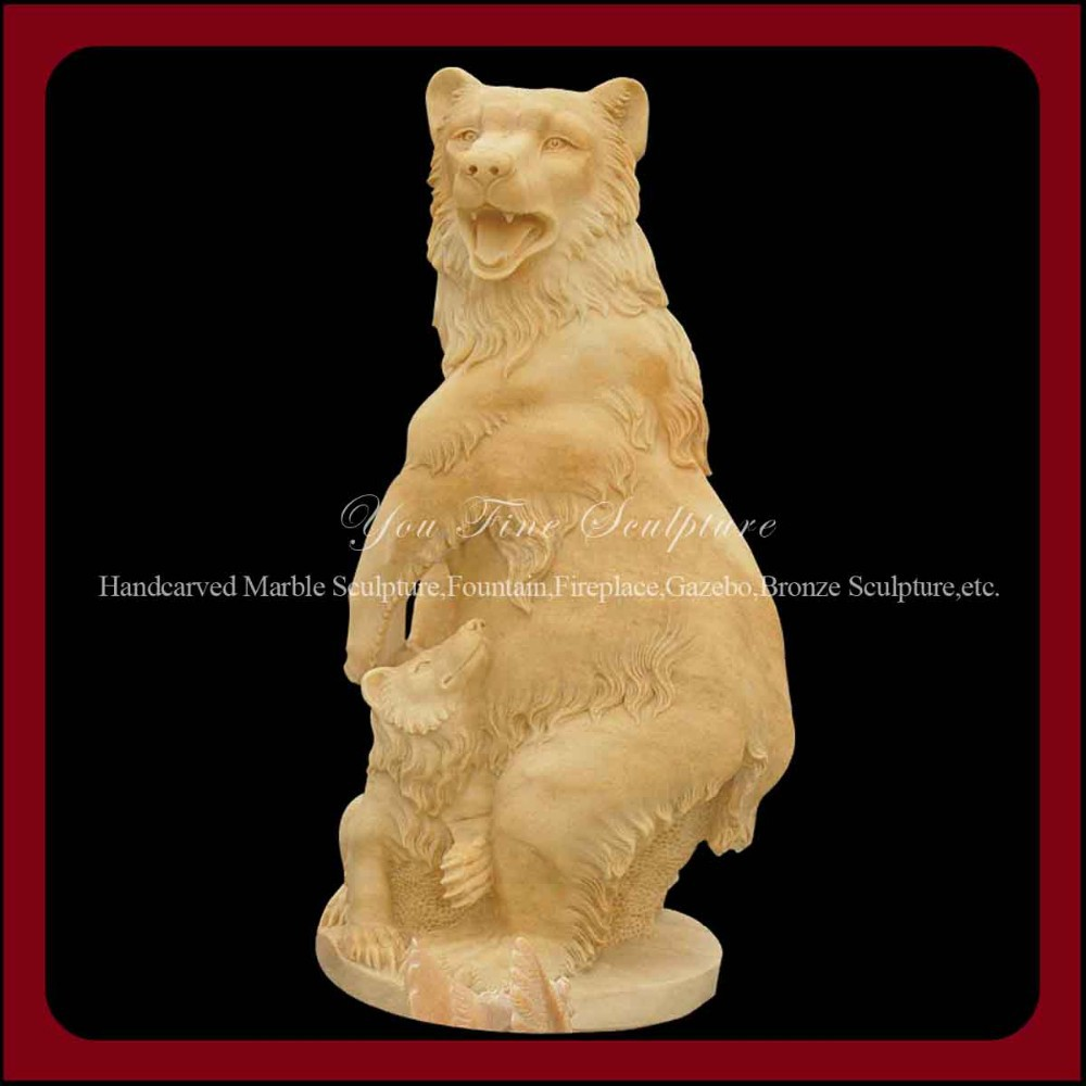 Outdoor Marble Bear Life-size Animal Statue