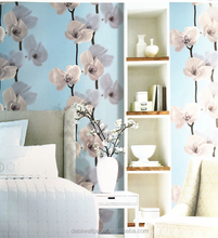 Good quality latest flower design washable wallpaper for kitchen