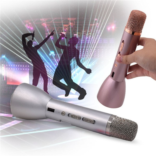 Magic sing karaoke player pink toys mic kids wireless microphone