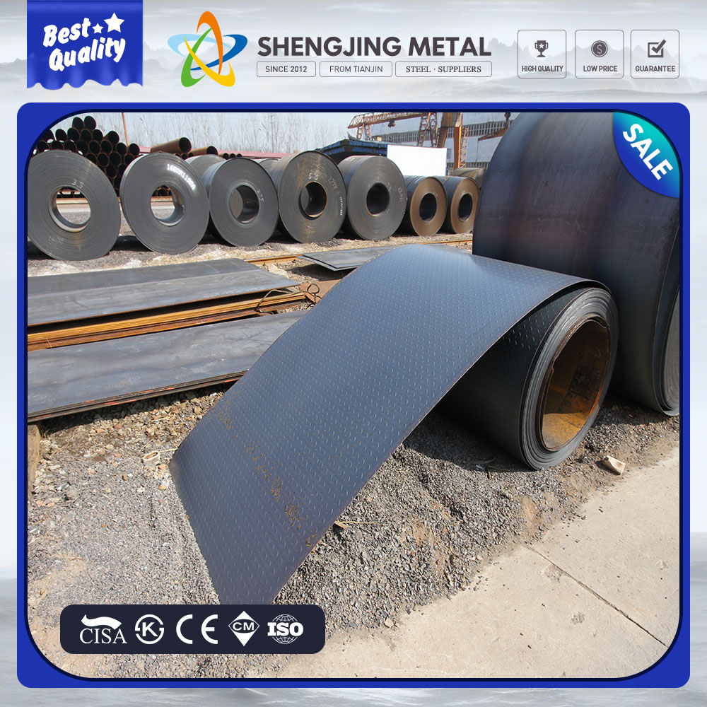 hot rolled checkered steel coil,China alibaba hot rolled 20mm thick steel coil dimensions