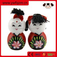 Factory direct low price wooden Chinese lucky doll