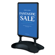Pavement windproof water filled base poster frame display stand