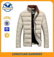 slim fit down fashion feather jacket for the winter jacket men 2016